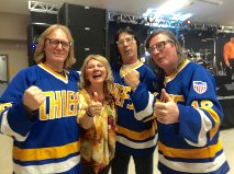 A blast from my past with the Hanson Brothers - remember Slap Shot!